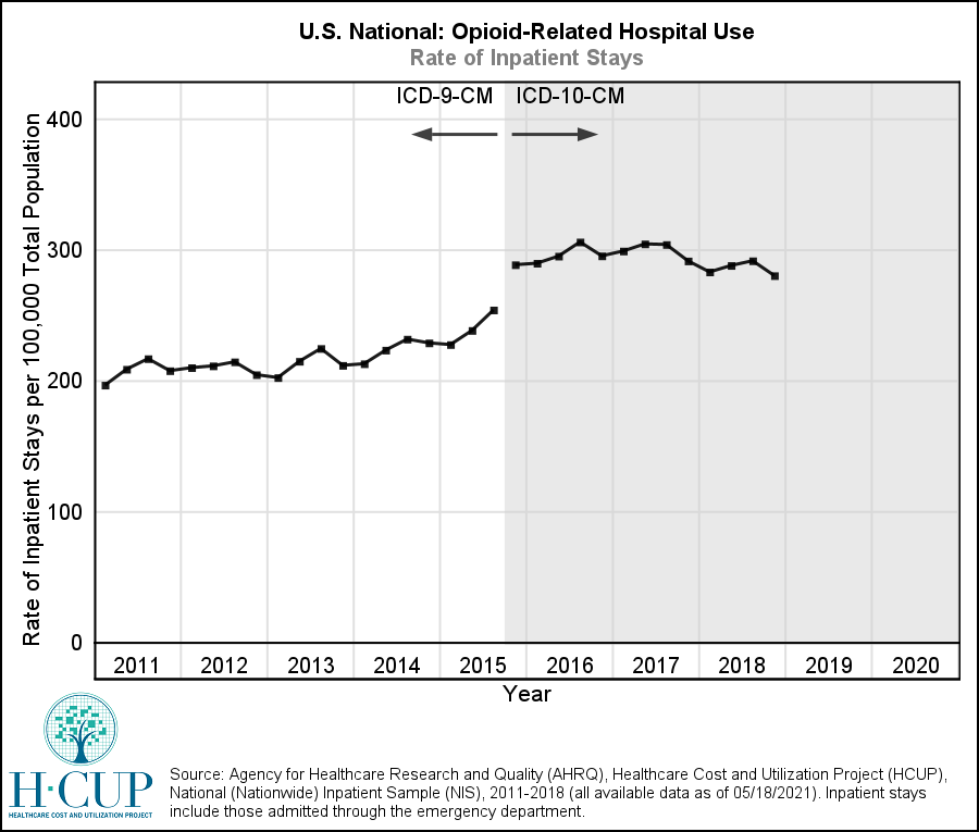 graphic depiction of Opioid Use data which is available immediately following this image.